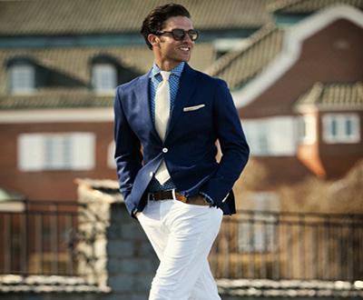 pantalon blanco para hombre
