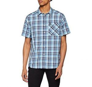 I520x490 odlo mc mythen camisa para hombre hombre color iced aqua diving navy blue jewel check tamano fr xl taille fabricant xl amazon el azul