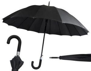 Paraguas de Caballero Negro 16 varillas2