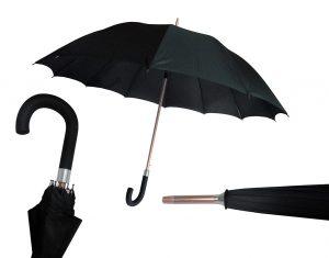 Paraguas de Caballero Negro Antiviento 16 varillas extra