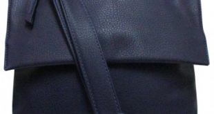 bolso bandolera unisex mediano azul