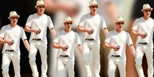 brad pitts all white summer outfit yzvv