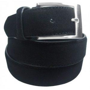 cinturon hombre piel serraje negro