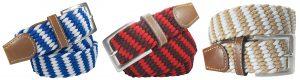 cinturon trenzado elastico