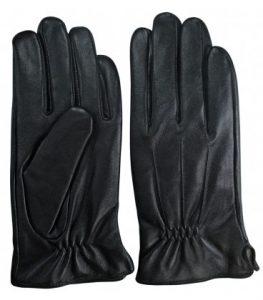 guantes hombre piel negros