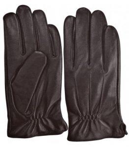 guantes hombre tactiles piel marrones 1