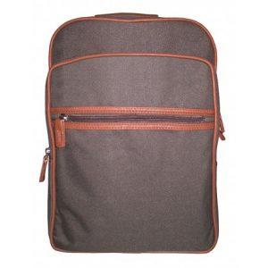 mochila portadocumentos lona marron