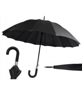 paraguas hombre negro