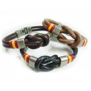 pulsera para hombre cuero cordon nudo marinero