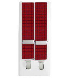 tirantes elasticos de hombre rojo con rayas